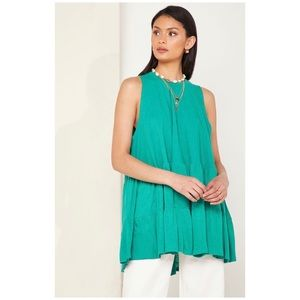 Free People Sleeveless Tunic Top In Green